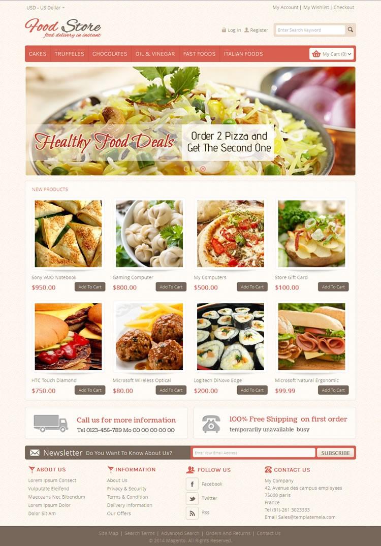 Food Store Magento Go Theme | TemplateMela