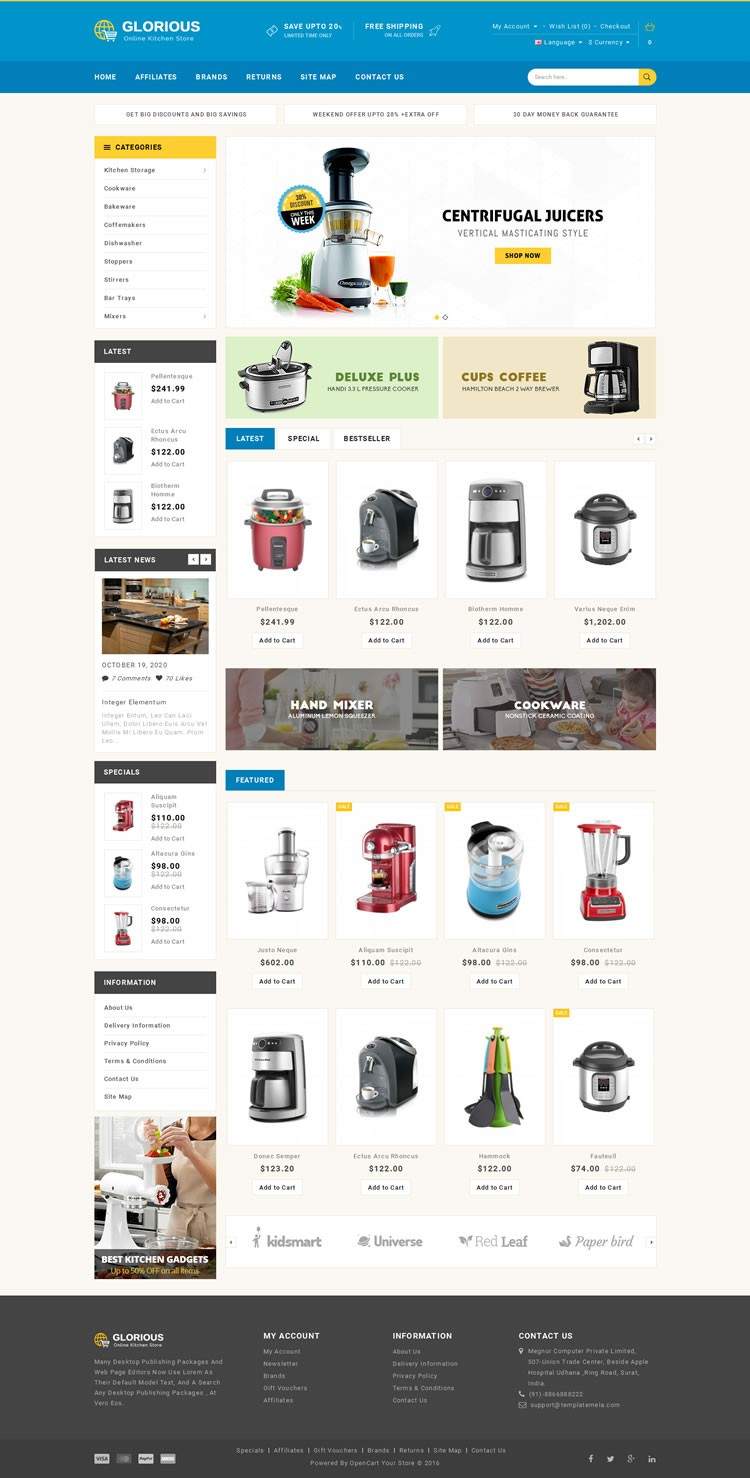 Professional Opencart Themes