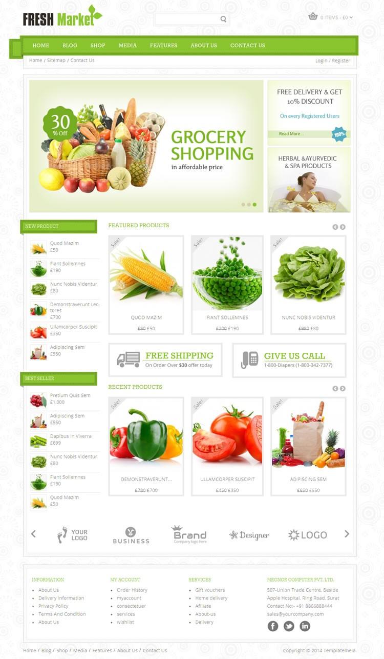 Freshmarket Grocery Wordpress Theme Templatemela