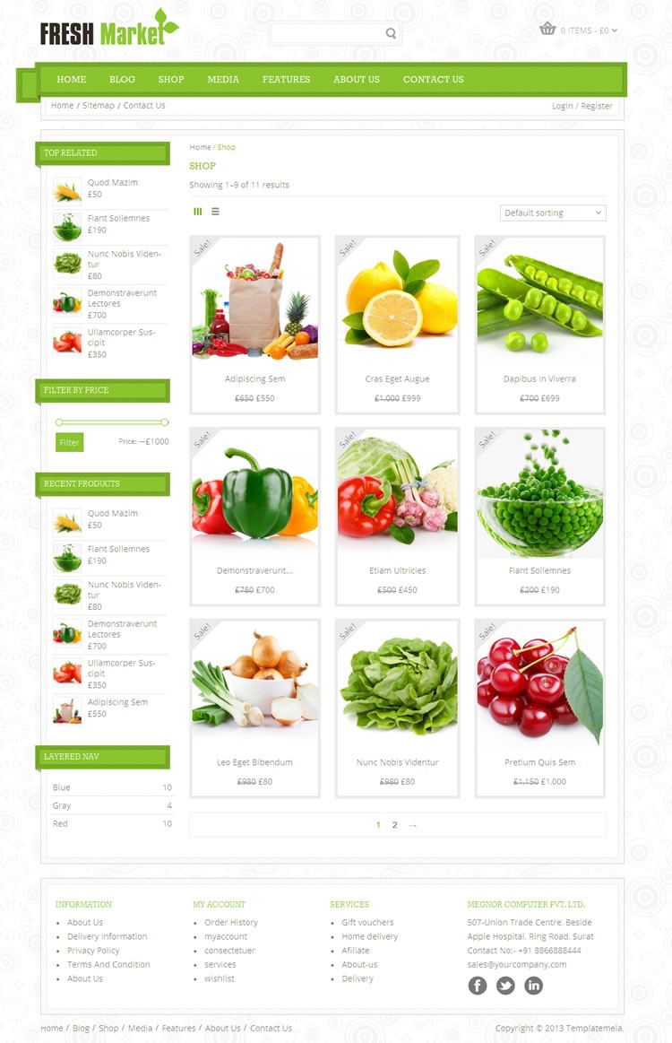 freshmarket grocery wordpress theme