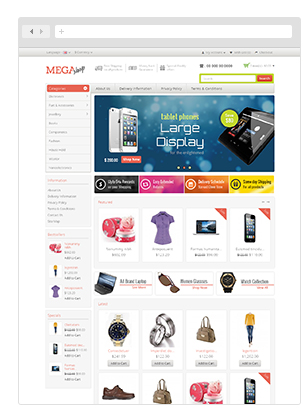 Watch Store - Opencart Responsive Theme