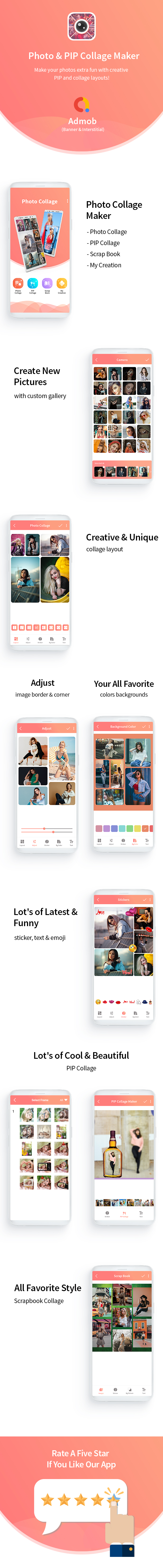 Collage Maker Photo Editor - Android App with Admob - 6