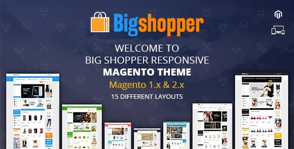 BigShopper - Smart Shop - Responsive Magento 1 & 2 Theme