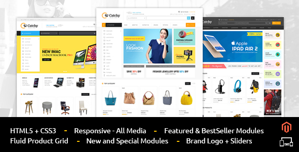 Catchy - Smart Shop - Responsive Magento 1 & 2 Theme