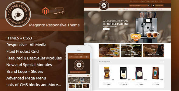 Coffee - Smart Shop - Responsive Magento 1 & 2 Theme