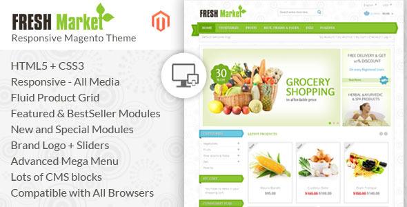 freshmarket - Smart Shop - Responsive Magento 1 & 2 Theme