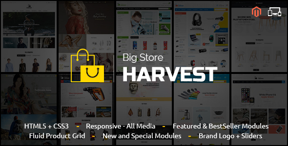 harvest - Smart Shop - Responsive Magento 1 & 2 Theme