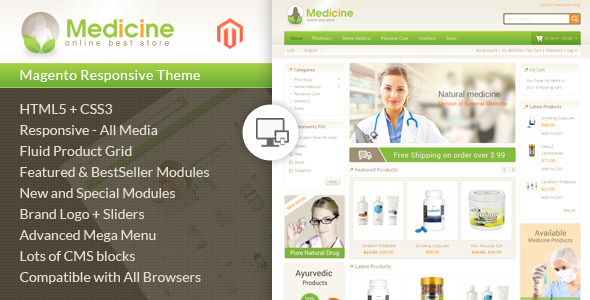 medicine - Smart Shop - Responsive Magento 1 & 2 Theme