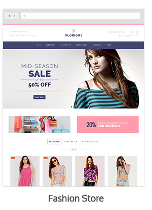 theme 01 - Glorious - Magento Responsive Theme